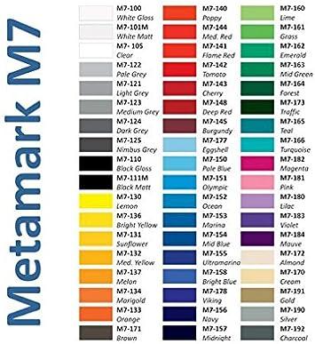 Metamark M7 - Lote de vinilos de rotulación, Din A4, 15 unidades Para silueta Pegatinas para DIN