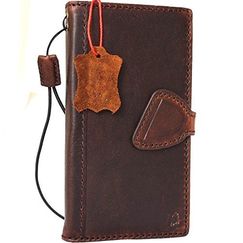 Genuine Vintage real Leather Case for Samsung Galaxy S8 Book Wallet Luxury magnet closure Cover S Handmade Retro Id cards slots s 8 slim brown Daviscase