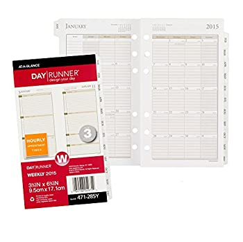Day Runner Weekly Planner Refill 2015, 3.75 X 6.75 Inch Page Size (471-285y) 12