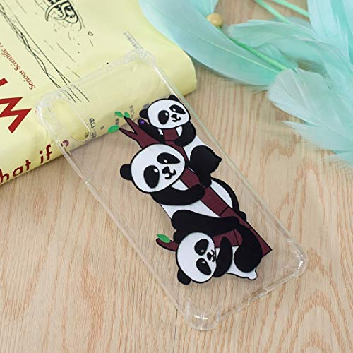 Patterns Trinity (for Huawei Cellphone for Huawei Enjoy 9 Trinity Pandas Pattern Oil Raised TPU Case)