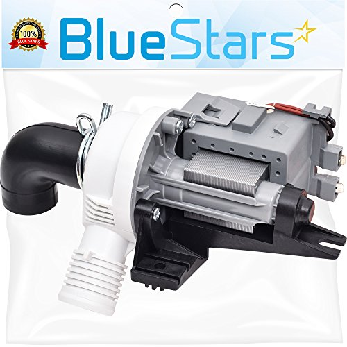 Ultra Durable W10536347 Washer Drain Pump Replacement part by Blue Stars - Exact Fit for Whirlpool Kenmore Maytag Washers - Replaces 2392433 8542672 AP5650269