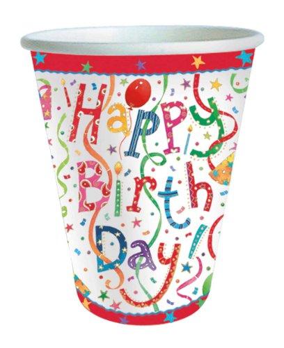 (Caspari 9100CP Happy Birthday paper cups, pack of 8,)