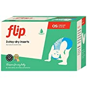 Flip Reusable Stay-Dry One-Size Inserts - Fits Babies from 8 to 35+ Pounds - Pack of 3
