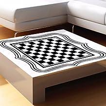 Bazaar International Chess Board Tea Table Glass Desktop Vinyl Sticker Home Bar Decoration
