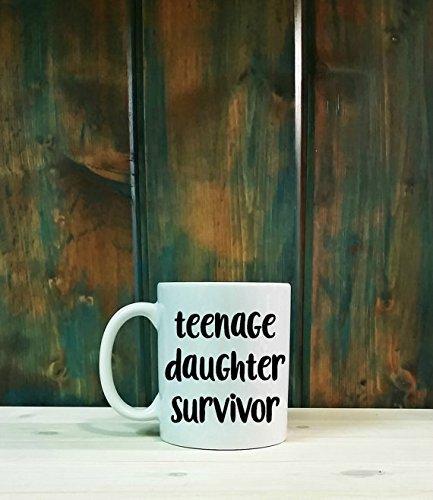 Teenage daughter survivor mug, gifts for dad, dad mug, fathers day gift, dad gift, father's day, 11oz 15oz