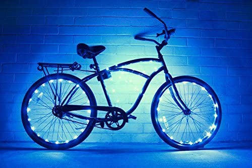 GlowRiders – Ultra Bright LED – Bike Wheel Light String 1 Pack – Assorted Colors Bicycle Tire Accessories- Burning Man Accessory