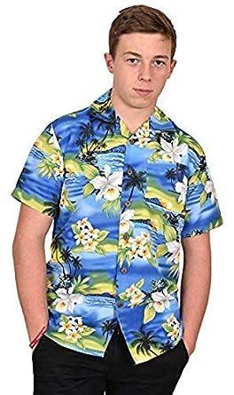 c5f5beb255ba9 True Face Chemise d'été Hawaii à manches courtes et imprimé - Pour ...