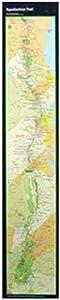 AP TRAIL CONSERVANCY Appalachian Trail Strip Map Poster,Black,One Size