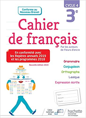 Cahier De Francais Cycle 4 3e Ed 2019 Amazon Fr