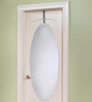 Amazon.com: Perchero para puerta espejo acrílico con soporte ...