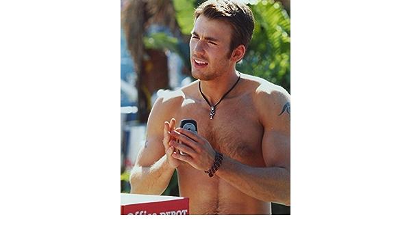 The Poster Corp Chris Evans Topless Portrait Photo Print (60 ...