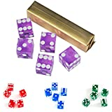 #5: 19mm AAA Grade Casino Craps Dice with Matching Serial Numbers Set of 5