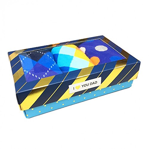 Happy Socks Men's Gift Box Father's Day Set, 3 pairs, Size 10-13