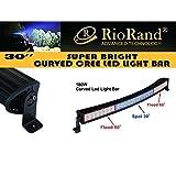 "RioRand® Curved 30"" 180W-GS-LSC1802 -Cree LED Light Bar Spot Flood Combo Beam High Intensity LEDs Radius Fog Headlight"