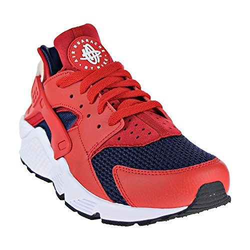 Textile Nike Mens Leather Huarache Trainers Red White Air UAZIAqw