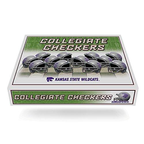 - NCAA Kansas State Wildcats Miniature Helmets Checker Set