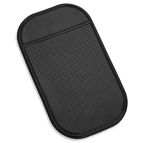 Magic Mat TWIN PACK -Universal Magic Sticky Anti-Slip black Securely holds Cell Phones Sunglasses Pens Coins Cleans with Soap and Water to renew original luster Tacky-ness Garage Door Openers GPSs