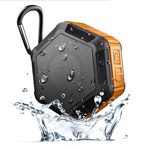 MQHY Speaker Bathroom Shower Waterproof Bluetooth Speaker Outdoor Rainproof Bluetooth Audio Usb Charger Able Call Music Subwoofer,Orange
