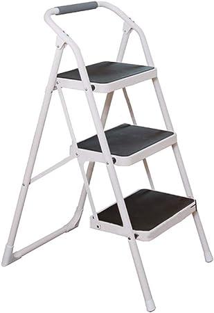 Escaleras plegables Escalera, Escalera Plegable De Hogares For Adultos, Cubierta Multifunción Tres Y Cuatro Escalera De Mano, Móvil, Alta Resistencia De Tubería De Hierro: Amazon.es: Hogar