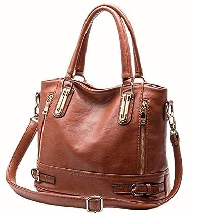 d46abfa8eb Image Unavailable. Image not available for. Color  Wyhui Women PU Leather  Handbags Women Messenger Bags Fashion Women s Shoulder Bag Female Tote ...