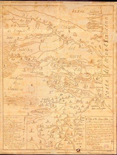 Map: 1747 a de la Sierra Gorda y Costa del Seno Mexicano desde la Cuidad de Queretaro|Indians of - Costa Finder Store