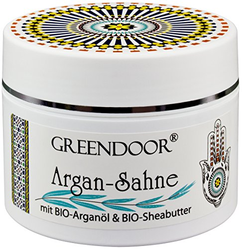 Greendoor Argan Creme / Argan-Sahne, aus BIO Arganöl und BIO Shea-Butter, Luxus Bodycream, Body Butter 200ml, Naturkosmetik aus der Manufaktur, Argancreme