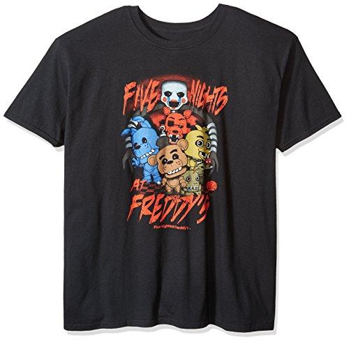 Funko Men's Pop! T-Shirts: Fnaf - Fnaf Group, Black, Large