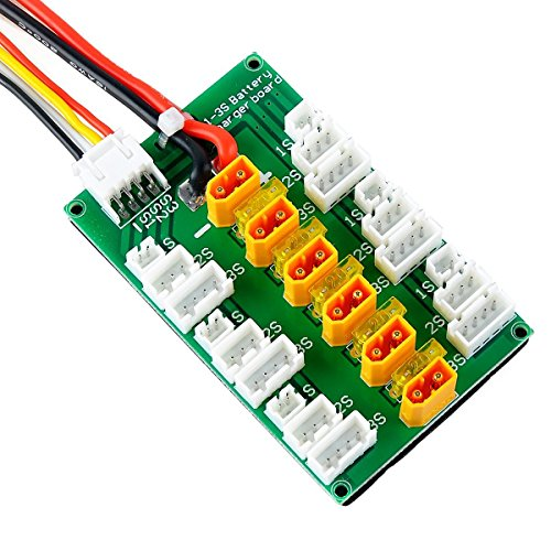 XT30 Parallel Charging Board for 2S 3S LiPo Batteries Compatible with XT30 JST Connector LiPo Batteries
