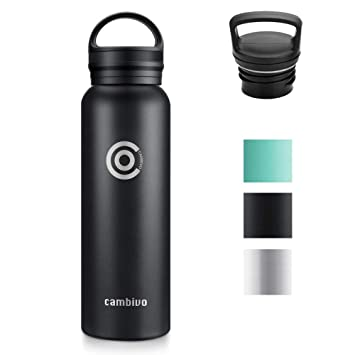 Amazon.com: CAMBIVO Botella de agua, termo de acero ...