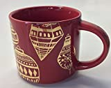 Starbucks Stacking 2015 Red Holiday Mug, 14 Fl Oz Gold Ornament Design