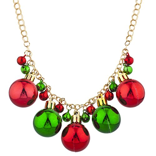 Lux Accessories Gold Tone Christmas X-Mas Holiday Jingle Bells Necklace -