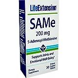 Life Extension SAMe (S-Adenosyl-Methionine) 200 mg, 30 Enteric Coated Tablets