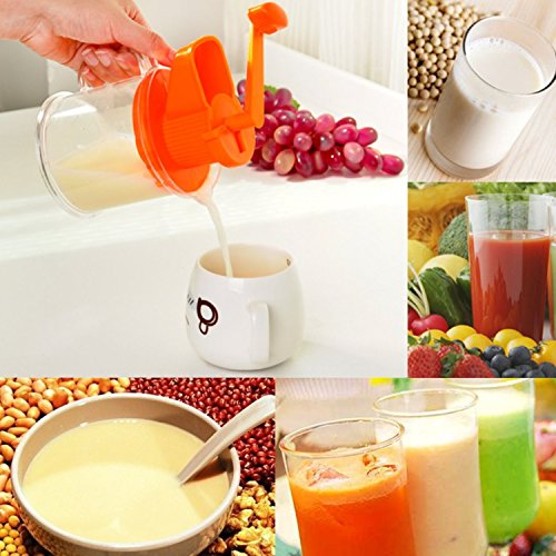 [Hand Cranked Plastic Fruits Press Juice Squeezer Kitchen Accessories Curve Handle Design, More Convenient And Comfortable To] (China National Costume Name)