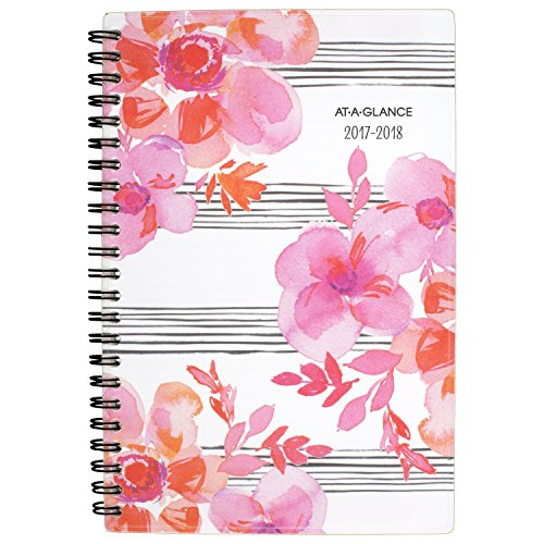 "AT-A-GLANCE Academic Weekly / Monthly Planner, July 2017 - June 2018, 4-7/8"" x 8"", Kathy Davis (1035B-200A)"