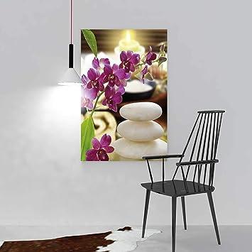 Amazon De Nalahome Hangende Dekoration Wand Malen Orchideen Bambus
