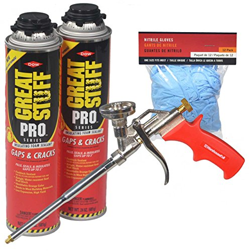 - Dow Great Stuff Pro Gaps and Cracks Foam Sealant Kit with Foam Gun and Gloves