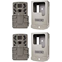 Moultrie A20 12MP IR Mini Hunting Game Trail Camera, 2 Pack with Security Cases