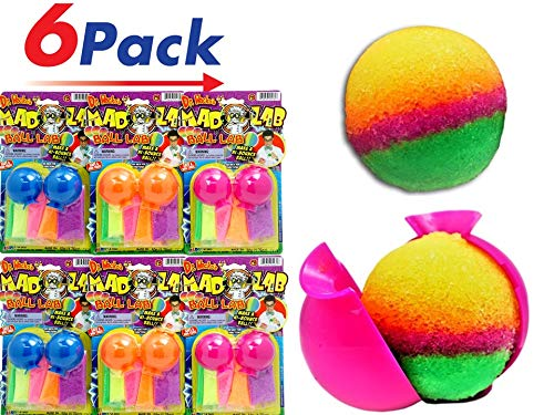 JA-RU DIY Magic Bouncy Balls - Create Your Own Super Bouncy (Pack of 6 Units) Ball Plus 1 Collectable Bouncy Ball 5431-6p (Your Own Make Balls Bouncy)