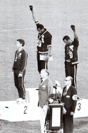 ((24x36) Black Power (Tommie Smith & John Carlos, Mexico City Olympics, 1968, Horizontal) Art Poster Pri)