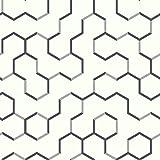 "RoomMates RMK9091WP Open Geometric Peel and Stick Wallpaper, 20.5"" x 16.5 feet, Grey"