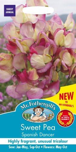 【輸入種子】 Mr.Fothergill's Seeds Sweet Pea Spanish Dancer スイート・ピー スパニッシュ・ダンサー ミスター・フォザーギルズシード