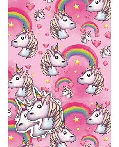 (Unicorn Gift Wrap, 2 sheets and 2 tags)