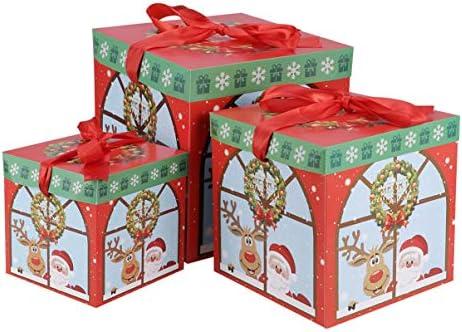 Toyvian 3 piezas caja de dulces de navidad caja de dulces de papel ...