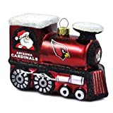NFL Arizona Cardinals Blown Glass Train Ornament