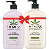 Hempz Vanilla Plum Herbal Body Moisturizer (17 fl oz) and Age Defying Herbal Body Moisturizer (17 fl oz) Bundle Review
