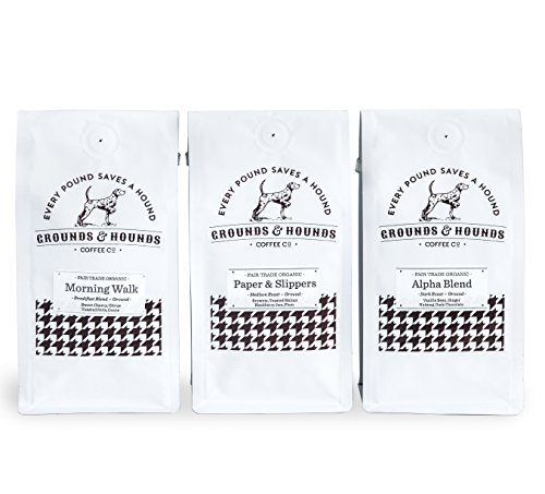 Three Blend Starter Kit -- Fair Trade & Organic Whole Bean Coffee by Grounds & Hounds Coffee Company