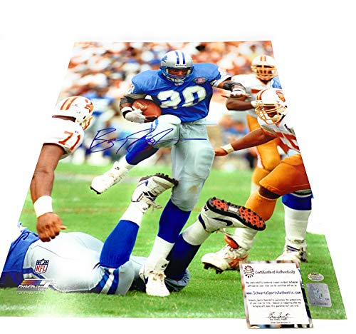 Barry Sanders Detriot Lions Signed Autograph 16x20 Photo Running Photograph Schwartz Sports Certified (Photographs Sports)