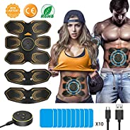 ABS Muscle Stimulator, ANLAN EMS Abdominal Muscle Toner Electronic Muscle Trainer, USB Rechargeable Abs Traine