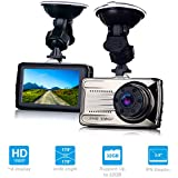 Dash Cam, 3 Inches FHD 1080P DVR Car Dashboard Camera, 170 Degree Wide Angle Car Video Recorder, On Dash Camera with G-Sensor, WDR, Loop Recording, Night Vision, Motion Detection