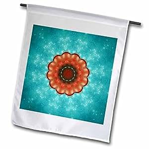Houk Digital Abstraction Art - Fancy Kaleidoscopes - Aquarius Planet Mandala - 18 x 27 inch Garden Flag (fl_42453_2)